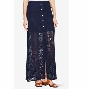 NEW BCBG Harper Lace Maxi Skirt 10